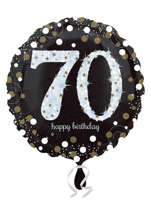 Gold Sparkle 70th Birthday Balloon