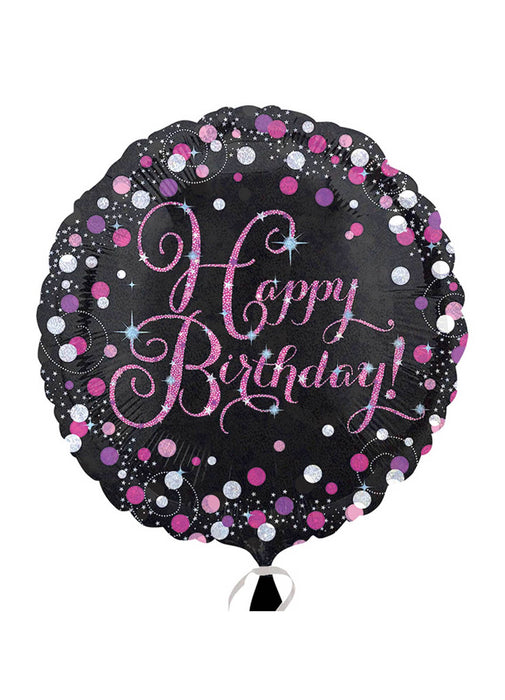 Pink Sparkle Happy Birthday Balloon