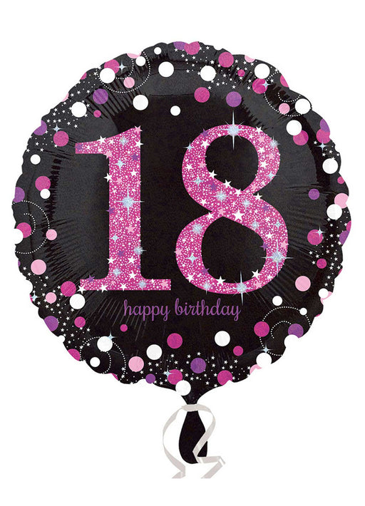 Pink Sparkle 18th Birthday Balloon