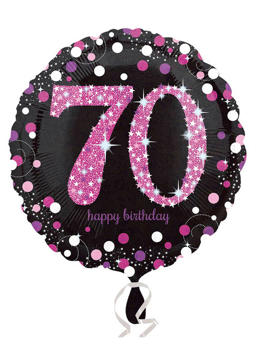 Pink Sparkle 70th Birthday Balloon