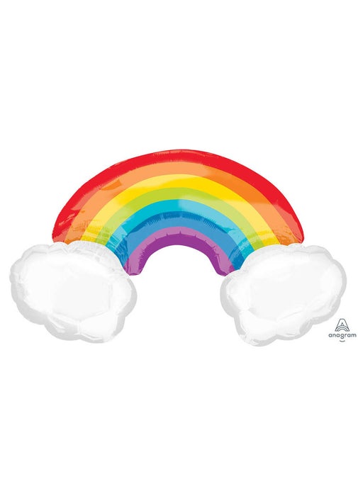 Rainbow With Clouds SuperShape Balloon