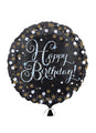 Gold Sparkle Happy Birthday Balloon