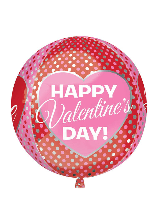 Happy Valentine's Orbz Balloon
