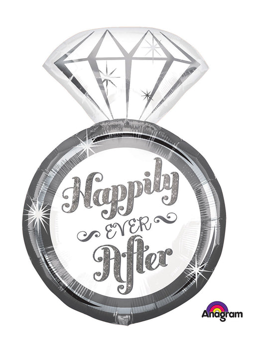 Happily Ever After Ring SuperShape Foil Balloon