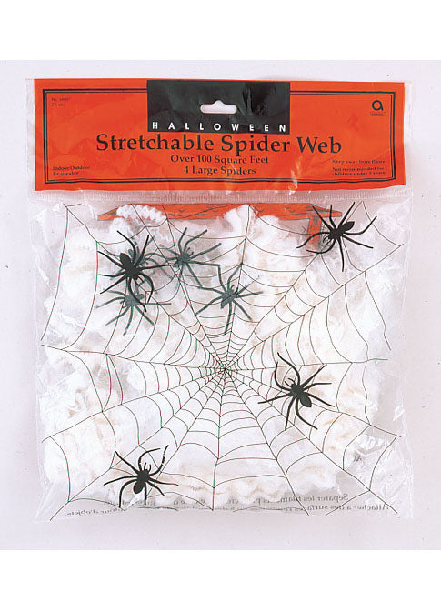 Stretchable Spider Web With Spiders