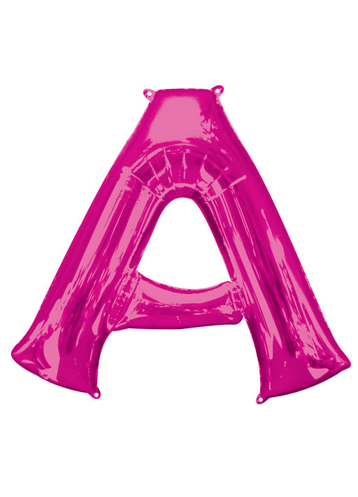 Letter A Pink Supershape Balloon