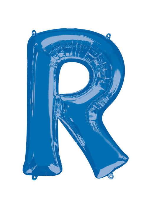 Letter R Blue Supershape Balloon