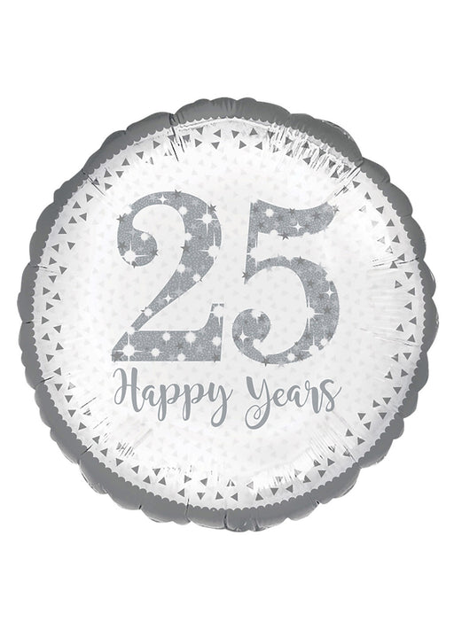 Sparkling 25th Anniversary Foil Balloon