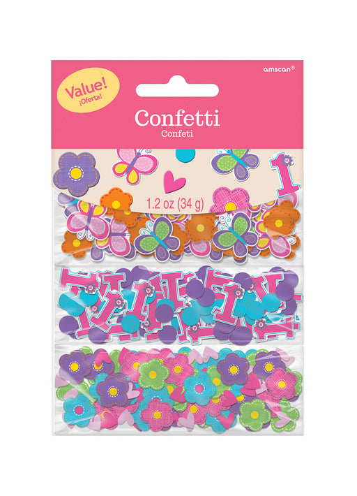 Sweet Girl 1st Birthday Confetti