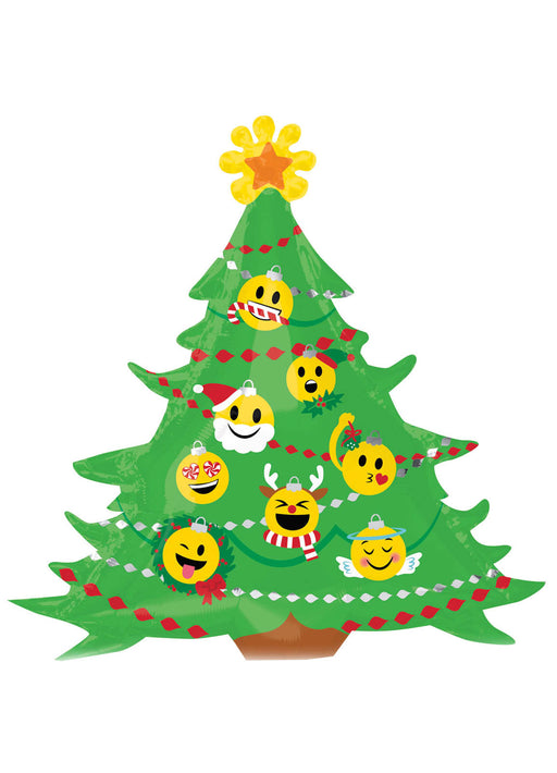 Christmas Tree Emoji SuperShape Balloon