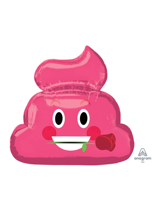 Emoticon Pink Poop Supershape Balloon