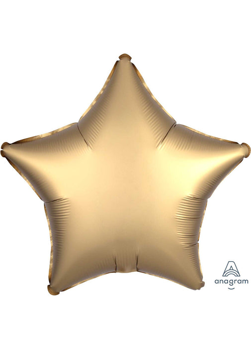 Satin Gold Star Foil Balloon