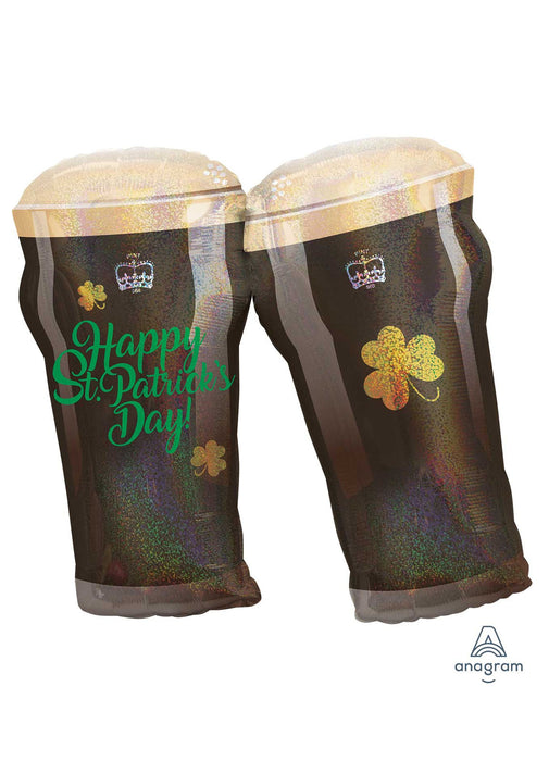 St Patrick's Day Beer Glasses SuperShape Balloon
