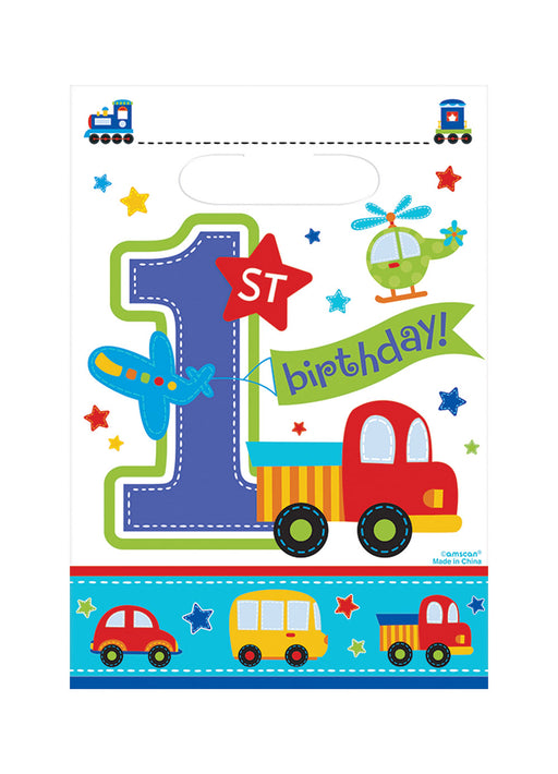 All Aboard 1st Birthday Loot Bags 8pk
