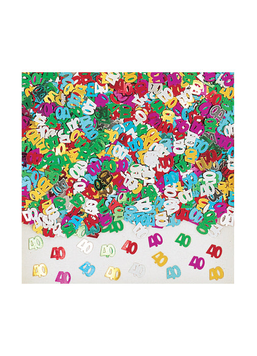 Radiant Birthday 40th Confetti