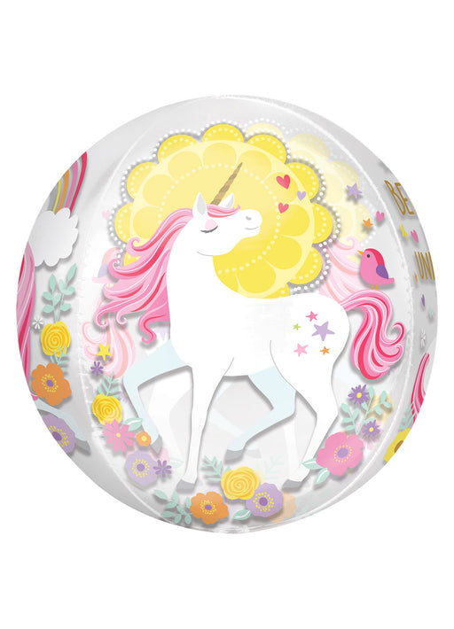 Magical Unicorn Orbz Foil Balloon