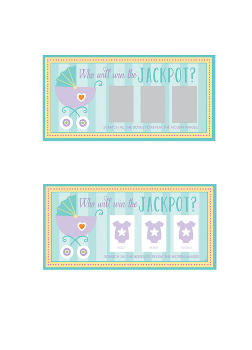 Baby Shower Scratch Cards 12pk