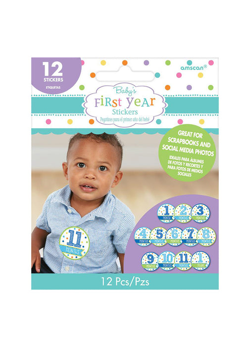 Blue Baby's First Year Stickers