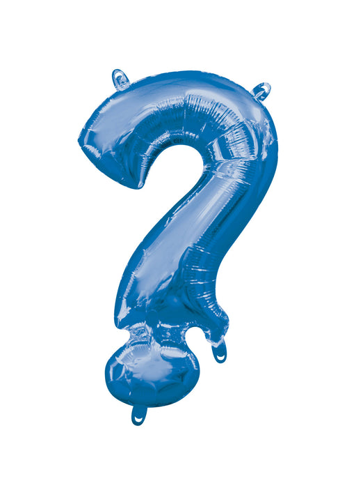 Letter ? Blue Air Filled Balloon