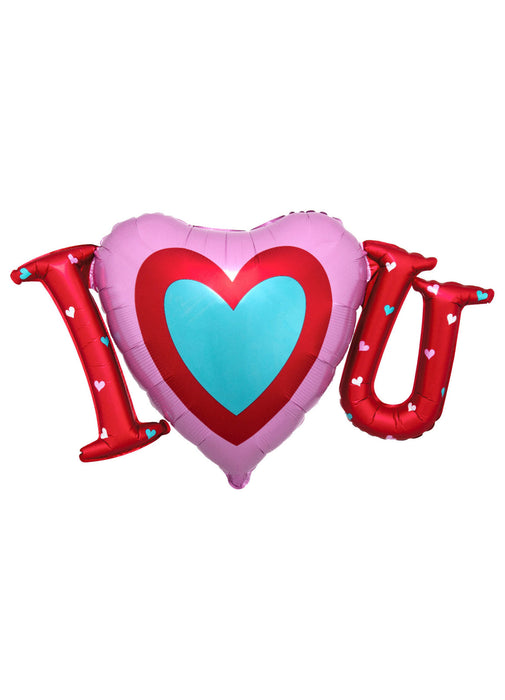 I Heart U Satin Supershape Foil Balloon