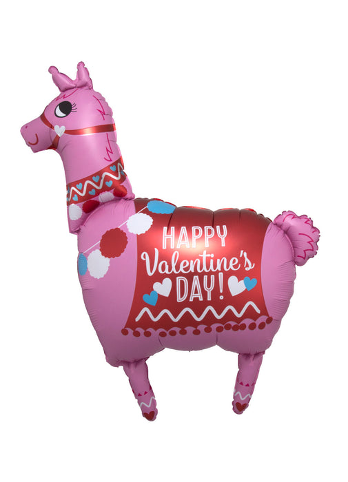 Valentine's Day Llama Supershape Balloon