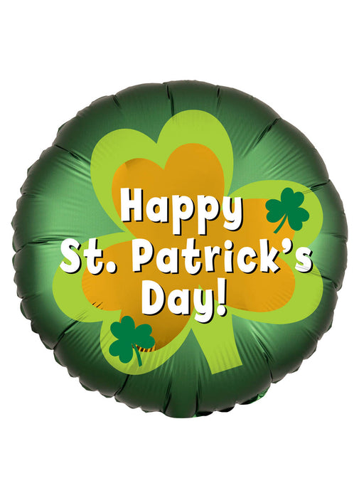 St Patrick's Day Satin Foil Balloon