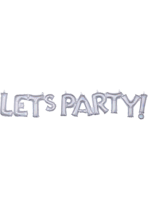 Let's Party Phrase Balloon