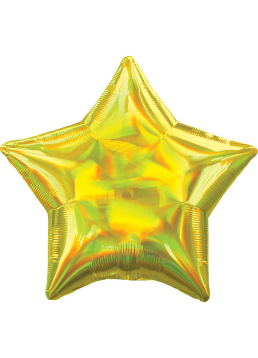 Iridescent Yellow Star Foil Balloon