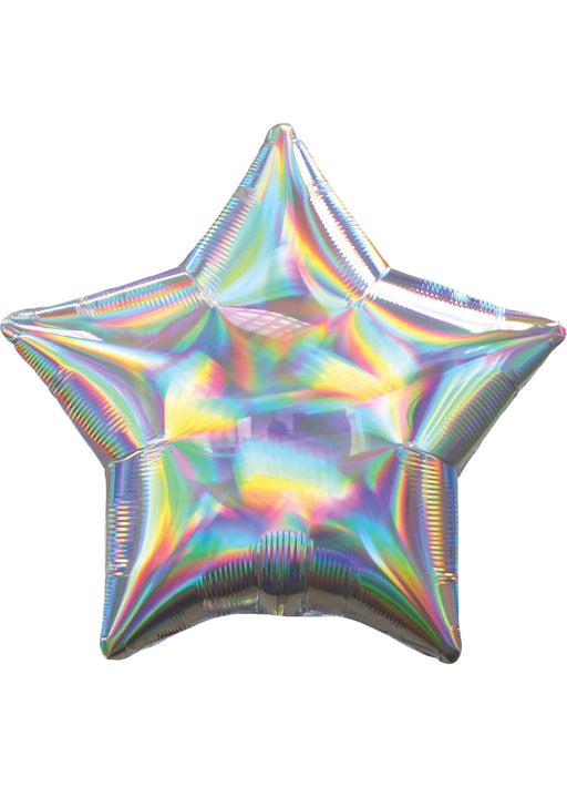 Iridescent Silver Star Foil Balloon