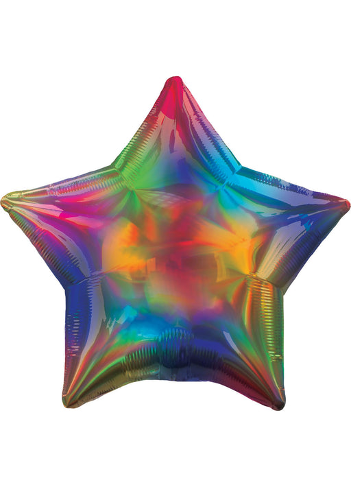 Iridescent Rainbow Star Foil Balloon