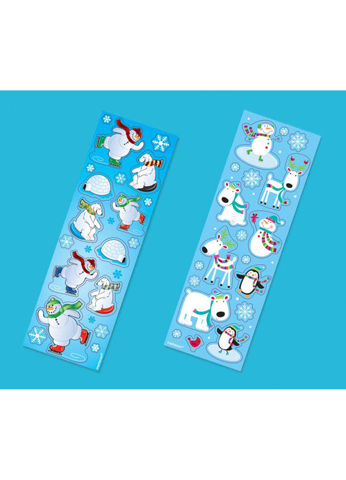 Christmas Sticker Strips 8pk