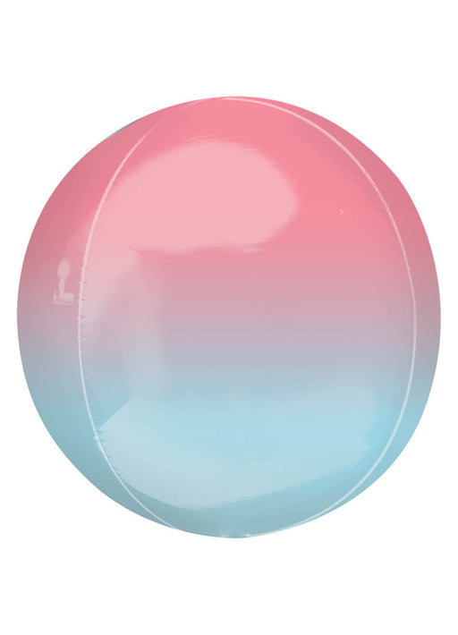 Red & Blue Ombre Orbz Balloon