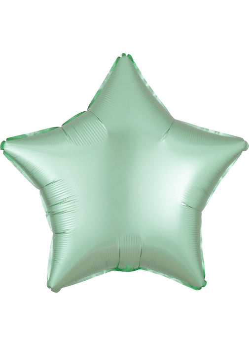 Satin Mint Green Star Foil Balloon