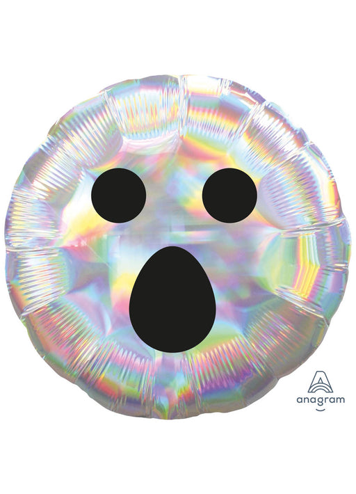 Iridescent Ghost Face Foil Balloon