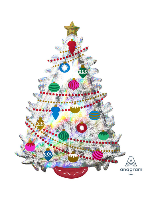 Holographic Christmas Tree SuperShape Balloon