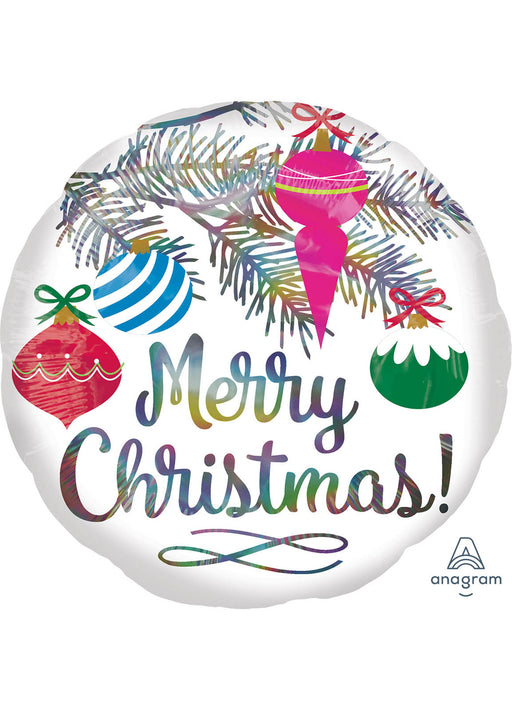 Holographic Merry Christmas Foil Balloon