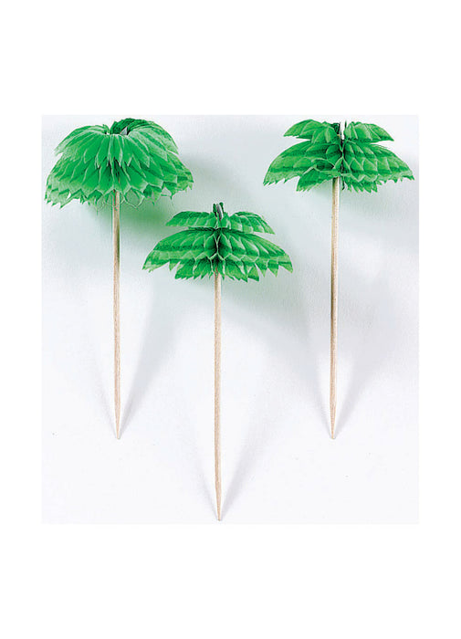 Palm Tree Honeycomb Picks 12pk