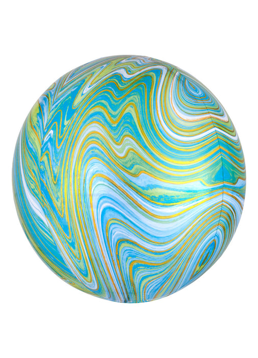 Blue Green Marblez Balloon