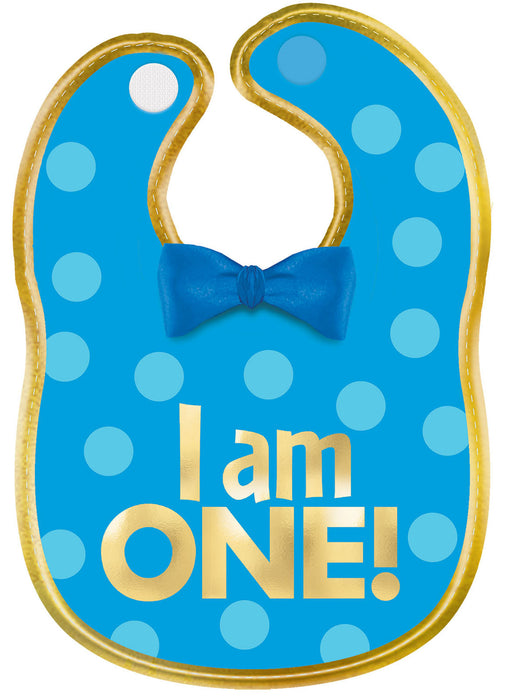 Premium Blue 1st Birthday Bib