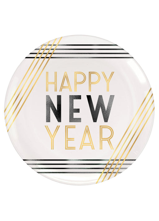 Happy New Year Plates 4pk