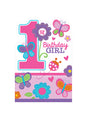 Sweet Girl 1st Birthday Invitations 8pk