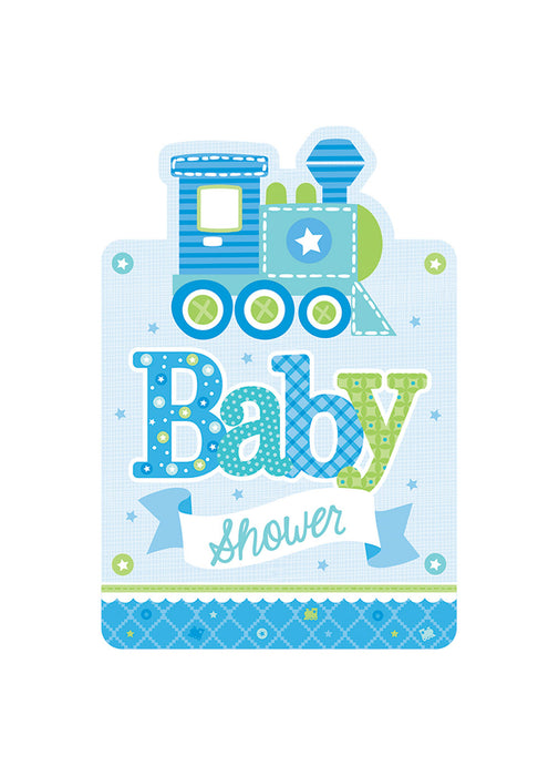 Welcome Baby Boy Invitations 8pk