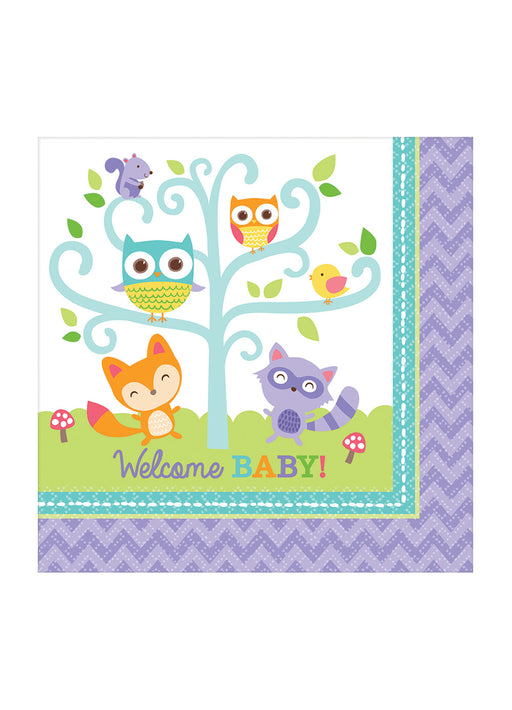 Woodland Welcome Napkins 16pk
