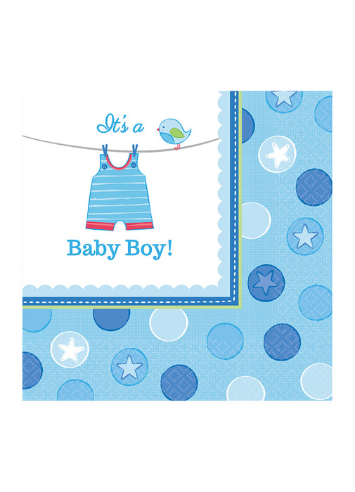 With Love Boy Napkins 16pk