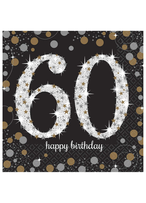 Gold Celebration 60th Birthday Napkins