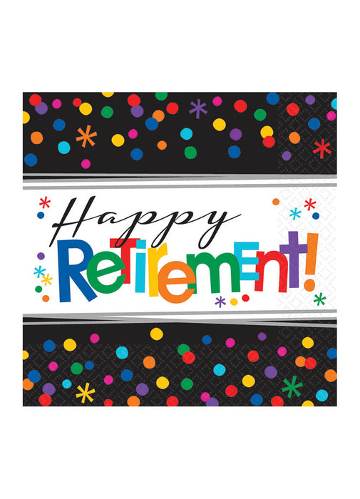 Happy Retirement Napkins 16pk