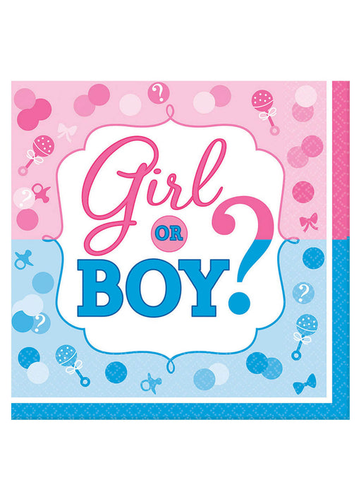 Gender Reveal Napkins 16pk