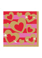 Hearts of Gold Napkins 16pk