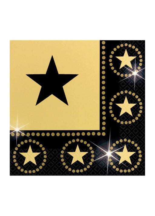 Hollywood Party Napkins 16pk