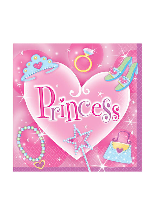 Princess Party Napkins 16pk